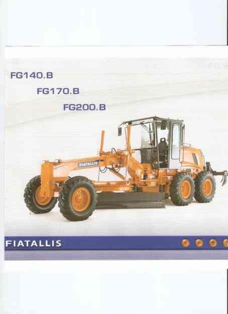 Manual De Serviço Motoniveladoras Fiatallis FG 140B,170B,200B  Em CD-Rom
