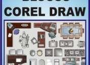 Biblioteca corel draw - blocos corel - vetor