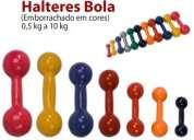 Anilhas e halteres bola emborrachados - 4,85 o kilo