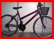 Bike femenina nova parcelo em 1 mais 2x de 110 bicicleta 18 marchas troco esteira eletrica