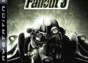 Fallout 3 - ps3 - americano - aberto - como novo - excelente estado