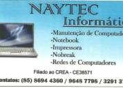 Manutenção computador. técnico registrado no crea 38571. Ótimo preço! confira!!