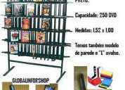 Expositor central , cap. 250 dvds