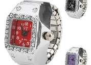 Relógio analógico tipo anel - em www.leolam.com.br