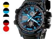 Dial rubber relógio de pulso dos homens multi-function