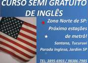 Aula gratis de ingles curso gratuito de ingles zona norte sp prox. metro