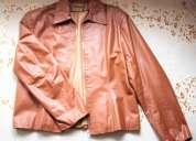 Jaqueta de couro marrom
