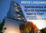Apartamento em osasco/bela vista/02 e 03 dormitorios/ 01 e 03 vagas/ breve lançamento