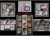Porta retratos quadros espelhos molduras moveis retro art reflexus vil mariana