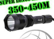 Lanterna premium uniquefire hs-802 super alcance 350/450m (www.clickled.com.br)