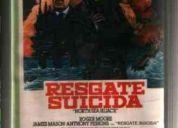 Vhs resgate suicida (original) - com roger moore - raro!!!