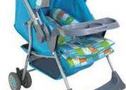carrinho de bebê berço-passeio reversível - milano azul céu - galzerano