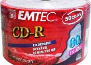 Mídia cd-r 80 emtec - sleeve c/50