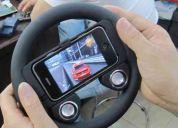 Volante racer para iphone 4g com caixas de som + bateria recarregável grÁtis