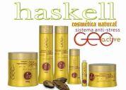 Haskell noz pecà controla o envelhecimento dos fios de cabelo