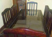 Mesa de jantar + sofá 02 lugares