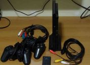 "Playstation 2 slim - destravado + box gta ""the trilogy"" original"
