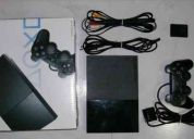 Ps2 slim + memory card + guitarra + 86 jogos