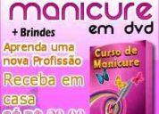 Dvd curso de manicure, unhas artísticas e decoradas