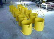 Construção baldes de içamento para concreto dir fabrica 48x bndes
