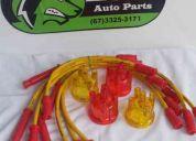 Cabo de vela silicone 4cc spa 10,4mm + tampa do distribuidor acrílico colorida