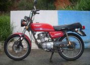 Honda turuna 125cc ano 1982 platinado corrente de comando