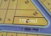 Terreno com 770mts