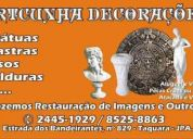 Restauração de objetos de decoração (21) 2445-1929 artcunha restaurações