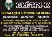 Eletri-k instalação e manutenção elétrica