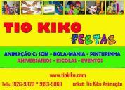 Animadores e  recreadores festas infantis em niterÓi tio kiko 9193-5869