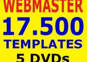 Curso webmaster & webdesign vÍdeo aulas + 17.500 templates + lojas virtuais