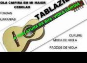 Tablaturas para viola caipira com videos explicativos