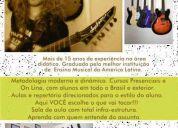 aulas de guitarra e violão