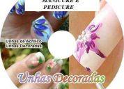 2 dvd manicure /unhas decoradas/ pedicure /calista