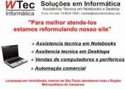 Manutenção notebooks - manutenção em desktops - automação comercial - vendas