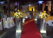 LocaÇÃo de material para festas e decoraÇÃo canaà colunas , mesas de vidro passadeira