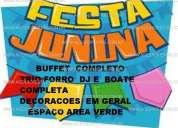 Pacote junino promocional 100 pessoas empresas r$ 1.800.00  espaço  e  buffet  completo