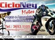 Peças e manutenção em motos e bicicletas