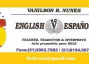 TraduÇÃo inglÊs & espanhol