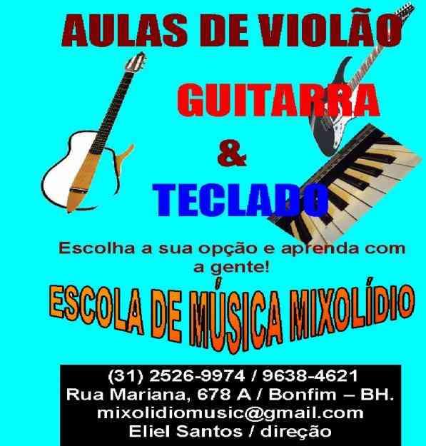 AULAS DE GUITARRA BASE E SOLO