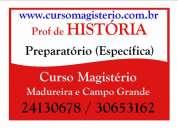 Preparatório para professor de história no rio de janeiro