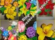 Apostila moldes de petalas e folhas para flores