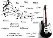 Aulas de violão, cavaquinho e guitarra em domicílio