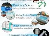 Instalação e manutenção de banheira hidromassagem, spá e ofurô 31 8741-9550
