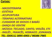 Curso de massagem massoterapia sp