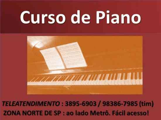AULA DE PIANO SANTANA PARADA INGLESA TUCURUVI V. GUSTAVO JACANA ZN SP